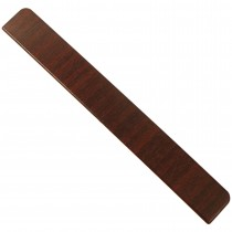 Freefoam Plain Fascia Board End Cap - Woodgrain Mahogany