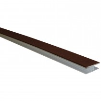 Freefoam Shiplap Cladding 2 Part H Joining Trim - Woodgrain Mahogany, 3 metre