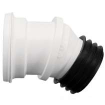 Kwickfit 0-30 Degree Swivel WC Pan Connector - White, 110mm