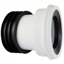 Kwickfit 104 Degree WC Pan Connector - White, 110mm