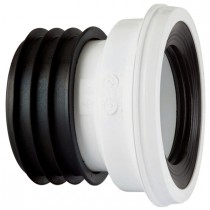 Kwickfit Straight WC Pan Connector - White, 110mm