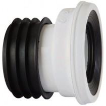 Kwickfit WC Pan Connector (12mm Offset) - White, 110mm