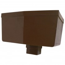Osma 65mm Square Hopper Head - Brown