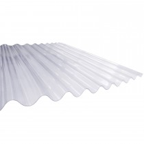 "PSD Plastic 3"" Corrugated Roofing Sheet - Clear, 3660mm x 762mm (12ft x 30"")"