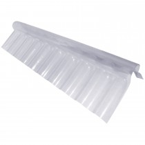 "PSD Plastic 3"" Corrugated Roofing Sheet Ridge Flashing - Clear, 695mm x 280mm x 125mm"
