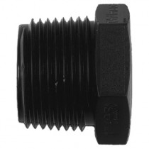 "Philmac Threaded Plug - Black, 1¼"" BSP"
