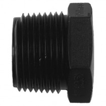 "Philmac Threaded Plug - Black, 2"" BSP"