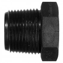"Philmac Threaded Reducing Bush - Black, 1"" x ¾"" BSP"
