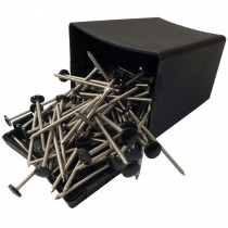 Plastops Plastic Headed Nails - Black, 50mm
