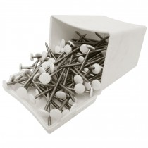 Plastops Plastic Headed Nails - White, 40mm
