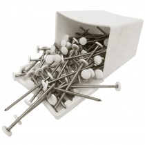 Plastops Plastic Headed Nails - White, 65mm