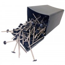 Plastops Plastic Headed Pins - Anthracite Grey, 65mm