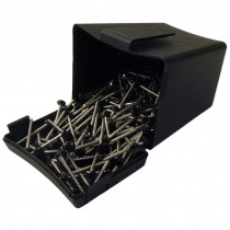 Plastops Plastic Headed Pins - Black, 40mm