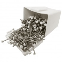Plastops Plastic Headed Pins - White, 40mm