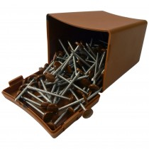 Plastops Plastic Headed Pins - Woodgrain Light Oak, 40mm