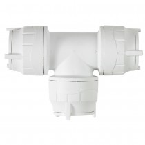 PolyFit 15mm Push Fit Equal Tee - White