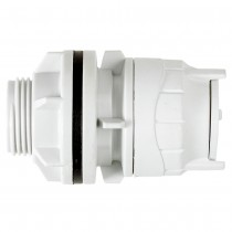 PolyFit 15mm Push Fit Tank Connector - White, 15mm x ½""