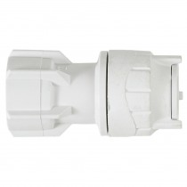 "PolyFit 15mm to ¾"" Hand Tighten Tap Connector - White"