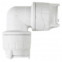 PolyFit 22mm Push Fit Elbow - White