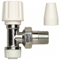 PolyPlumb 10mm Radiator Lockshield Valve - Grey