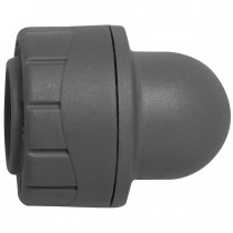 PolyPlumb 10mm Socket Blank End - Grey