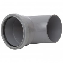 Polypipe 110mm Round Down Pipe Large Shoe - Grey