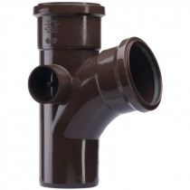 Polypipe 110mm Soil 104 Degree Equal Single Branch - Brown