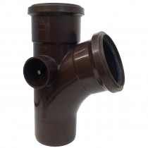 Polypipe 110mm Soil 112 Degree Equal Single Branch - Brown