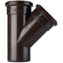 Polypipe 110mm Soil 135 Degree Equal Single Branch - Brown