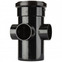 Polypipe 110mm Soil 3 Way Boss Pipe - Black