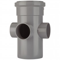 Polypipe 110mm Soil 3 Way Boss Pipe - Grey