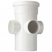 Polypipe 110mm Soil 3 Way Boss Pipe - White
