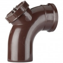 Polypipe 110mm Soil 92.5 Degree Access Bend - Brown