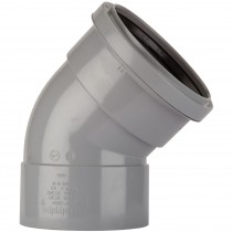 Polypipe 110mm Soil Double Socket 135 Degree Offset Bend - Grey