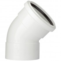 Polypipe 110mm Soil Double Socket 135 Degree Offset Bend - White
