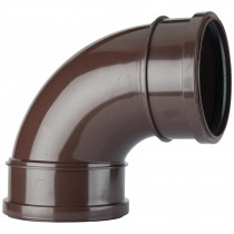 Polypipe 110mm Soil Double Socket 92.5 Degree Bend - Brown