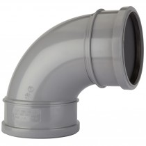Polypipe 110mm Soil Double Socket 92.5 Degree Bend - Grey