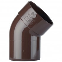 Polypipe 110mm Soil Single Socket 135 Degree Offset Bend - Brown