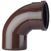 Polypipe 110mm Soil Single Socket 92.5 Degree Offset Bend - Brown