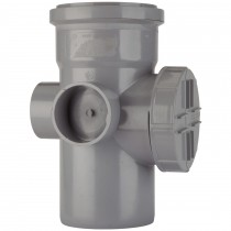 Polypipe 110mm Soil Single Socket Access Pipe - Grey