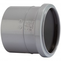 Polypipe 110mm Soil Single Socket Coupler - Grey