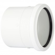 Polypipe 110mm Soil Single Socket Coupler - White