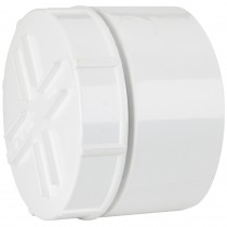 Polypipe 110mm Soil Socket Tail Screwed Access Cap - White
