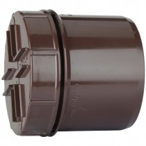 Polypipe 110mm Soil Spigot Tail Screwed Access Cap - Brown