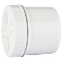 Polypipe 110mm Soil Spigot Tail Screwed Access Cap - White