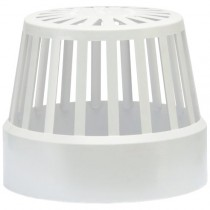 Polypipe 110mm Soil Vent Terminal - White