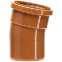 Polypipe 110mm Underground 11.25 Degree Single Socket Short Radius Bend - Terracotta