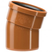 Polypipe 110mm Underground 15 Degree Single Socket Short Radius Bend - Terracotta