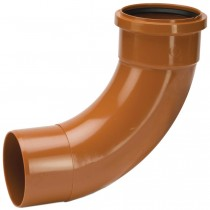 Polypipe 110mm Underground 87.5 Degree Single Socket Short Radius Bend - Terracotta