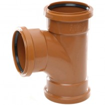 Polypipe 110mm Underground 87.5 Triple Socket Equal Junction - Terracotta